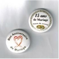 Herazz Badges Anniversaire de Mariage 15 ans