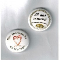 Herazz Badges Anniversaire de Mariage 20 ans
