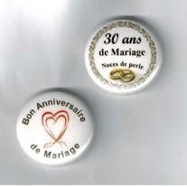 Herazz Badges Anniversaire de Mariage 30 ans