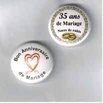 Herazz Badges Anniversaire de Mariage 35 ans