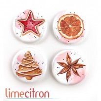 Limecitron Badges Biscuits