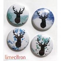 Limecitron Badges Renne de Noël