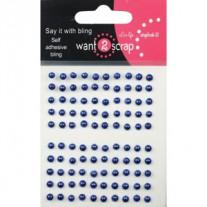 Want2scrap minis Perles Bleues