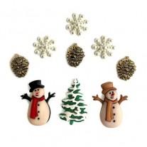 Embellissements Buttons Galore Noël à l'ancienne
