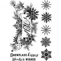 Crafter's Companion Étampe Bisous flocon de neige