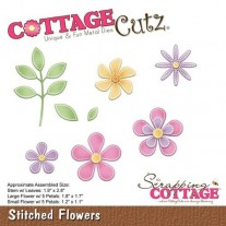CottageCutz Die Points de Couture Fleurs