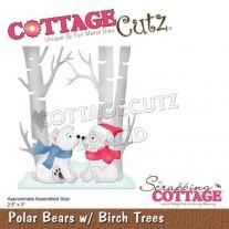 CottageCutz Die Ours Polaires & Bouleaux