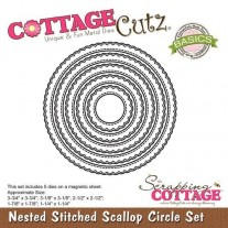 CottageCutz Die Stitched Scallop Cercle