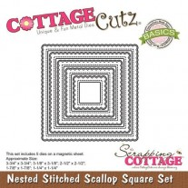 CottageCutz Die Stitched Scallop Carré