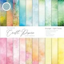 """Craft Consortium Pad 12""""X12"""" Grunge-Light Tones"""