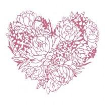 Couture Creations Étampe Coeur floral