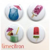 Limecitron Badges Cocktails