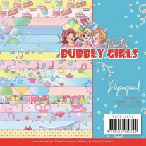 "Yvonne Creations Pad 6""X6"" Bubbly Girls Party"