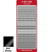 Peel Off Numéros Élégant noir