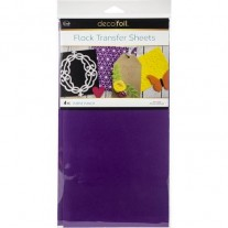 Thermoweb Deco Foil Flock Transfer Sheets Purple Punch