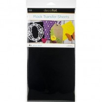Thermoweb Deco Foil Flock Transfer Sheets Black Velvet