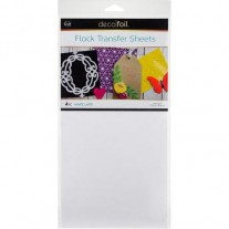 Thermoweb Deco Foil Flock Transfer Sheets White Latte