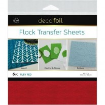 Deco Foil Flock Transfer Sheets Ruby Red