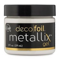 Deco Foil Metallix Gel White Pearl