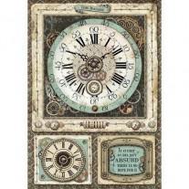 Stamperia Papier de Riz Voyages Fantastiques Horloges