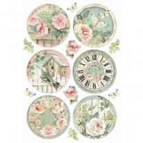 Stamperia Papier de Riz Horloges rondes