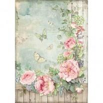 Stamperia Papier de Riz Jardin de Roses
