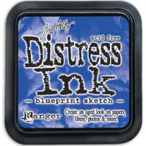 Distress Ink Blueprint Sketch