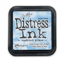 Distress Ink Tumbled Glass