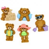 Boutons Summer Bears
