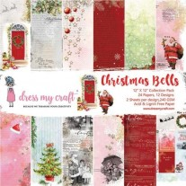"Dress My Crafts Pad 12"" X 12"" Cloches de Noël"