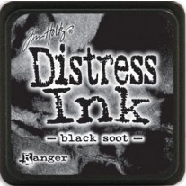 Mini Distress Ink Black Soot