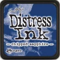 Mini Distress Ink Chipped Sapphire