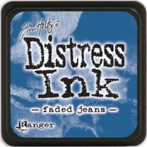Mini Distress Ink Faded Jeans