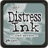 Mini Distress Ink Iced Spruce