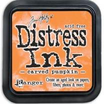 Mini Distress Ink Carved Pumpkin
