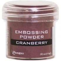 Poudre embossage Métallique Cranberry
