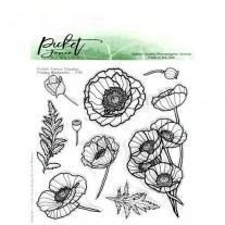 Picket Fence Studios Étampe Fleurs de Pavot