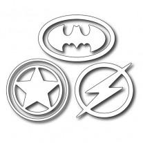 Frantic Stamper Dies Symboles de Super Héros