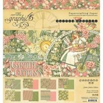 "Graphic 45 Pad 8"" X 8"" Garden Goddess"