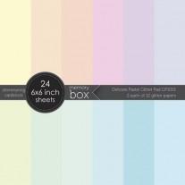 "Memory Box Pad 6""X6"" Pastel glitter"