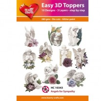 Hearty Crafts 3D toppers Anges de sympathies