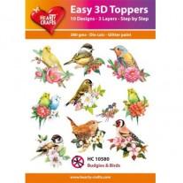 Hearty Crafts 3D toppers Oiseaux & Fleurs