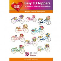 Hearty Crafts 3D toppers Bicyclettes
