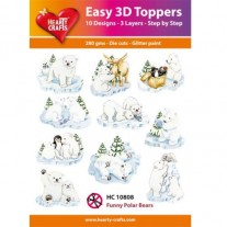 Hearty Crafts 3D toppers Ours Polaires