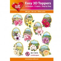 Hearty Crafts 3D toppers Paysages