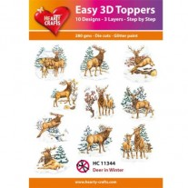Hearty Crafts 3D toppers Chevreuils en hiver