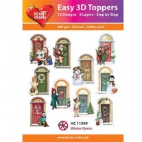 Hearty Crafts 3D toppers Portes en hiver