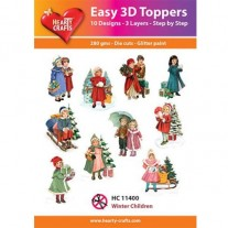 Hearty Crafts 3D toppers Enfants en hiver