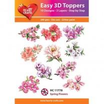 Hearty Crafts 3D toppers Fleurs printanières