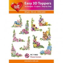 Hearty Crafts 3D toppers Coins Fleurs